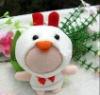 8cm white chicken DIY 3D doll
