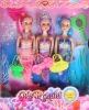 "9"" mermaid doll, plastic doll"