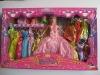 Baby plastic toy doll set