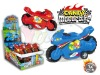 Baby pull back Motorbike candy toy