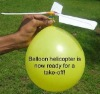 Balloon helicopter toy for kids