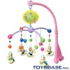 Battery cartoon operate baby ring rattles
