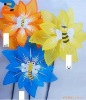 Beautiful Bug Pinwheel with Six Leaves-Lovely Bee Maple shaped windmill
