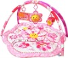 Beautiful pink flower with moving toys baby girl play mat