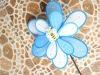 Bee Flower nylon Spinning Garden Stake