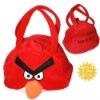 Cartoon bird red hand bag
