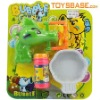 Cartoon outlook battery operated bubble gun toy