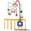 Cartoon sounds control baby bed toy