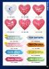Cattex Giant Banner & Heart Balloons