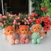 Cheap brown baby plush bears,plush bear with flower pattern,baby plush toys,push teddy bear