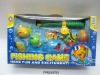 Children magnetic fishing toy with net .FM0210591
