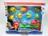 Children magnetic fishing toy with net .FM0210593
