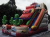 Colorful funny inflatable commercial slide
