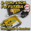 Corona CT14F 2.4GHz RF Module and CR14 RC Receiver RS834 for Futaba transmitter