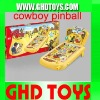 Cowboy pinball machine/ pinball game with music flash light and score indicator