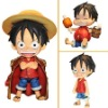 "Cute ! One Piece Monkey D Luffy 3.6"" PVC Figure"