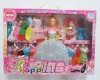 Cute Plastic Girl Doll Toy For Babies