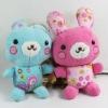 Cute promotional plush material rabbit,fashion pink plush rabbit,cute rabbit fashion doll,plush rabbit