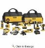 DeWalt DCK955X 9 Piece Combo 18-Volt XRP Cordless Tool Kit (HammerDrill / Circular Saw / Reciprocating Saw / Impact Driver