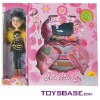 Dolls with Toy Cosmetic Play Set