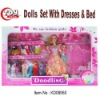 Fashion baby dolls set with clothes & bed