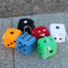 Fashion plush dice toy big dice playing dice promotional gift for children stuffed toy dice fuzzy dice