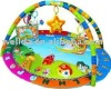 Fashion soft cotton baby play mat with toys hanging