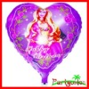 Foil Balloons With Heart Shaped Happy Birthday