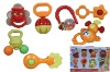 Funny Baby Rattels with 3 styles plastic rattle set
