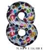 Giant Color Foil Number Balloons-Eight (76.5cm W x 114.5cm H)
