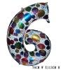 Giant Color Foil Number Balloons-Six (76cm W x 113cm H)
