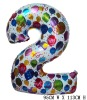Giant Color Foil Number Balloons-Two (95cm W x 113cm H)
