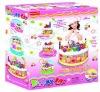 Girl plastic food cake toy