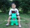 Green Dragon Jumping Animal Toy / PVC Bouncing Animal