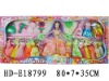 """HD-E18799 11.5"""" plastic beauty doll with accessories"""