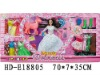 """HD-E18805 11.5"""" plastic beauty doll with accessories"""