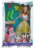 """HD-E18847 11"""" solid body beauty doll with accessories"""