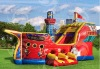 HOT SALE! inflatable pirate ship slide