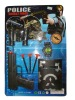 Handgun toys plastic police set