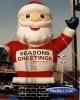 Happy inflatable santa