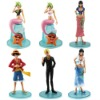Heat ! 6x One Piece Luffy Sanji Mermaid Figure Set