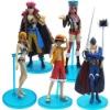 Heat! Anime 5x One Piece Luffy Nami Figure Set