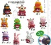 Hot Sell Soft 12 Anmials Toys keychain OC0123739