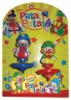 Hot sell PATATI PATATA clown spinning top with ripcord