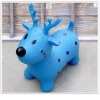 Inflatable Christmas deer. Inflatable jumping animal toy