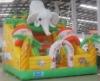Inflatable forest slide