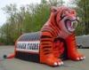 Inflatable shoutig tiger moscot Tunnel