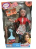 Joint rotated fashion doll with exchangeable wig