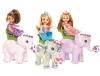 Little cute girl with beauty elephant dolls