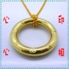 Magic Ring and Chain Knot glod beads chain with letter Magic Knot ring and chain magic knot magic show